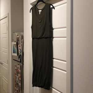 Tight Olive Midi Dress